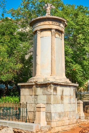 The choragic monument of Lysicrates (334-333 BC) in Plaka district in Athens, Greece