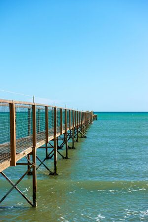 Perspective of pier and the sea - Landscape