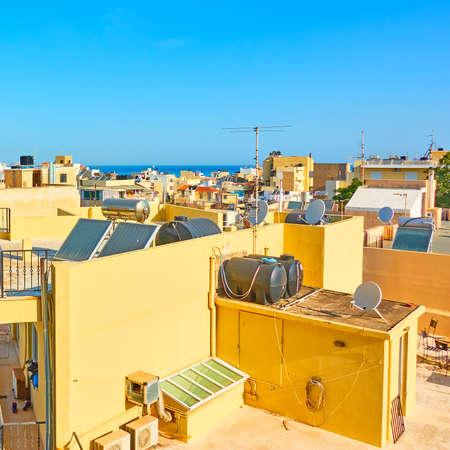 Rooftops of Heraklion, Crete island, Greece Imagens