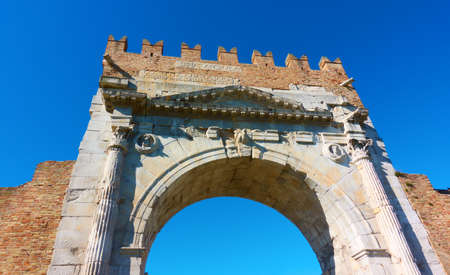 Arch of Augustus - Gate in the old town of Rimini, Italy