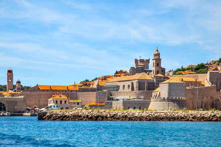 Beautiful view of the old port of Dubrovnik,  Croatia
