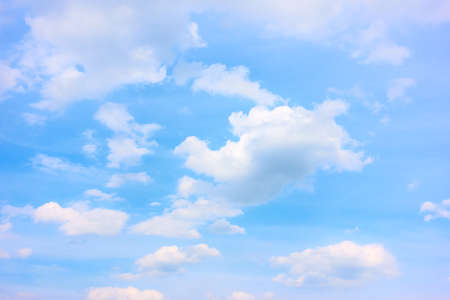 Blue sky with white clouds - background with space for your own text