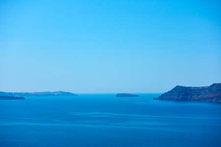 Sea in Greece. Scenic view of The Aegean sea from Santorini island