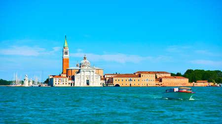 Venetian view with San Giorgio Maggiore island, Venice, Italy. Landscape