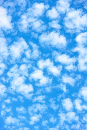 Sky with small white clouds. Background