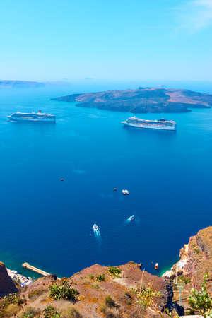 Aegean Sea from Santotini Island, Greece. Landscape, scenic view Standard-Bild