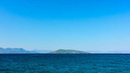 Sea in Greece. Scenic voew from Aegina Island