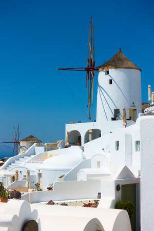 Windmill in Santorini island in Greece