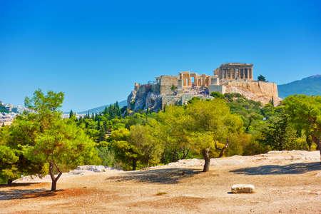 Acropolis hill in Athens in Greece. Landscape 版權商用圖片