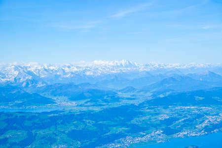 Swiss Alps in Switzerland. Aerial panoramic view 版權商用圖片
