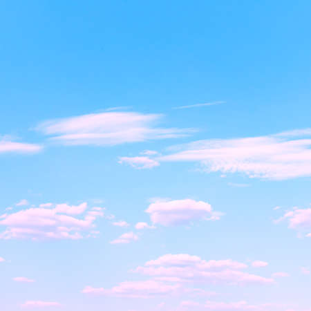Blue sky and clouds only. Background with space for your own text
