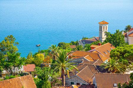 Landscape with small town on the sea shore, Herceg Novi, Montenegro