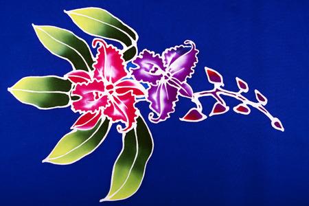 batik pattern flower of thailand Stok Fotoğraf