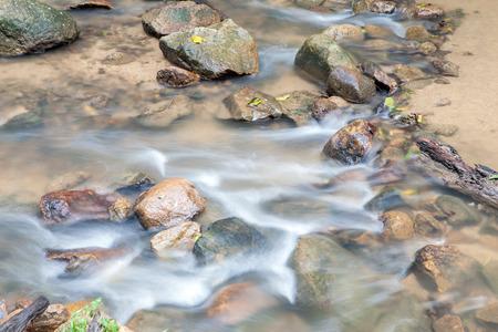 huay: Waterfall in Huay to krabi Thailand Stock Photo