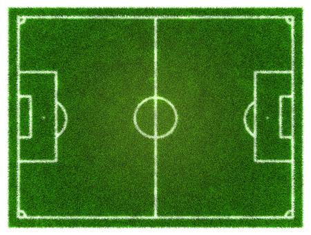 grassy: 3d Football - Soccer grassy field