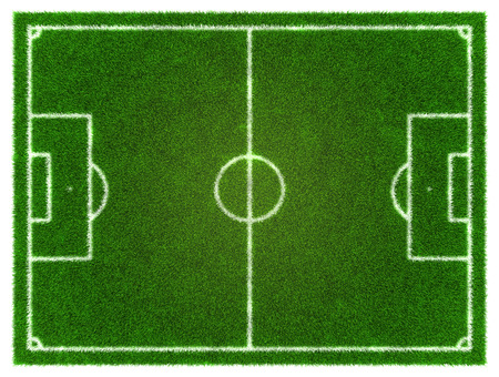 3d Fußball - Fußball-Grasfläche Standard-Bild - 38654589