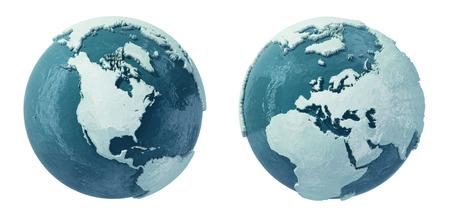 eiszeit: Die Welt zur Zeit der Eiszeit Lizenzfreie Bilder
