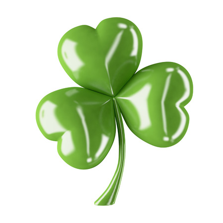 three leaf clover: 3d shiny leaf clover for your St.Patrick