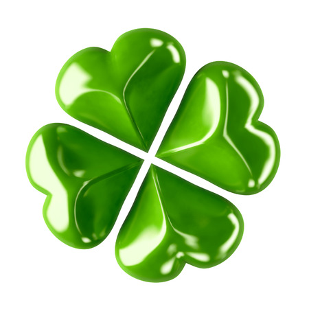 3d shiny leaf clover for your St.Patrick photo