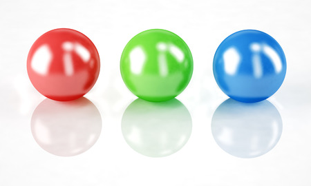 rgb: Set of balls isolated on white: RGB colors Stock Photo