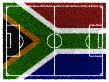 worldcup: 3d render of soccer field for 2010 South Africa worldcup Stock Photo