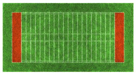 campo di calcio: campo di football americano. Aerial illustrazione view.3d.