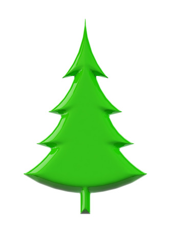 Christmas Tree. 3d render with HDR Stock Photo