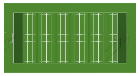 american football stadium: American football field. Aerial view. 3d illustration. Stock Photo