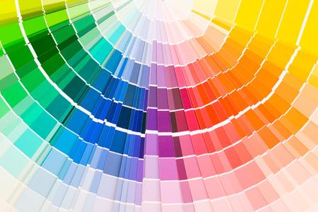 Color guide samples pantone close-up