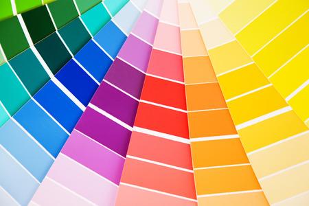 Color guide Proben pantone close-up Standard-Bild - 39389757