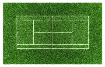Tennisplatz. Grass.3d Illustration. Standard-Bild - 39390646