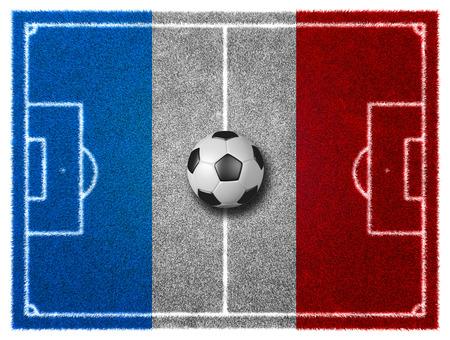 grassy field: 3d FootballSoccer grassy field. France EURO 2016 Stock Photo