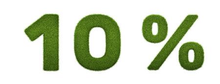 3D-Darstellung von Gras Prozent Rabatt Symbol machen. Isoliert auf weiß Standard-Bild - 54727763