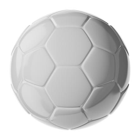 3D-Fußball isoliert auf weiß Standard-Bild - 54727778