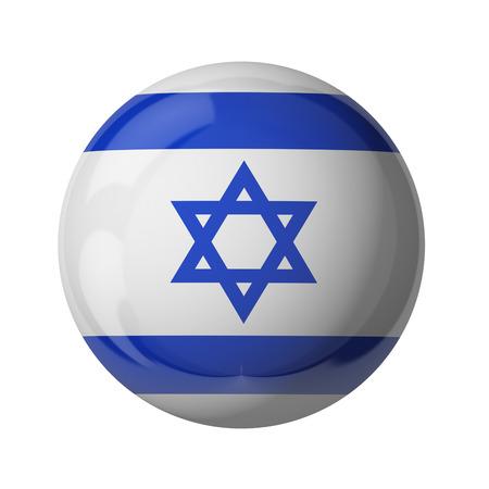 3D-Flagge von Israel isoliert auf weiß Standard-Bild - 54727785
