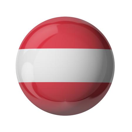 3D-Flagge von Österreich isoliert auf weiß Standard-Bild - 54727795