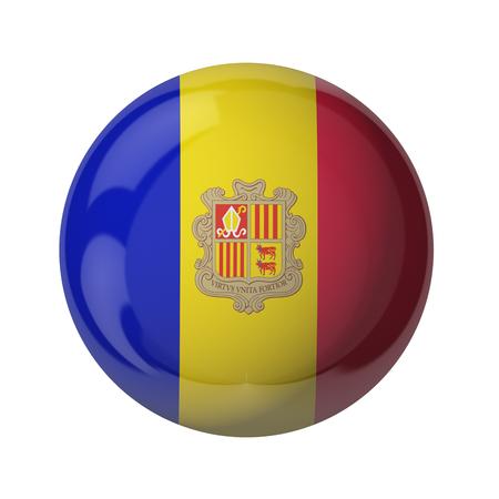 3D Fahne von Andorra isoliert auf weiß Standard-Bild - 54727811