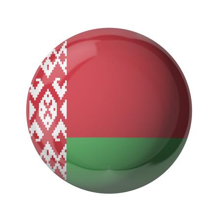 3D-Flagge von Belarus auf weiß isoliert Standard-Bild - 54727819