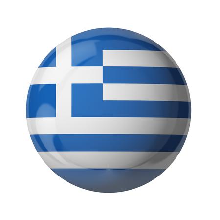 3D Fahne von Griechenland isoliert auf weiß Standard-Bild - 54727825