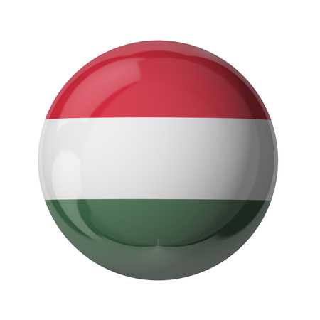 3D flag of Hungary isolated on white
