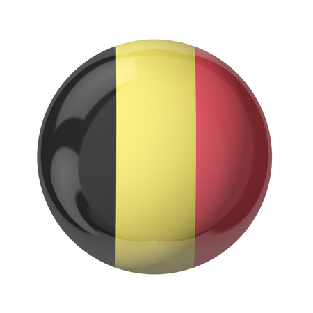 3D flag of Belgium isolated on white