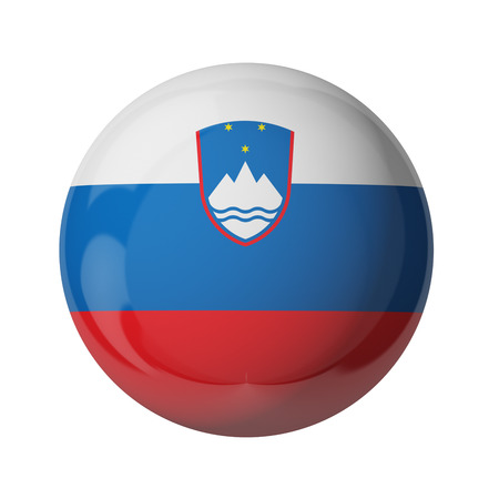 3D flag of Slovenia isolated on white