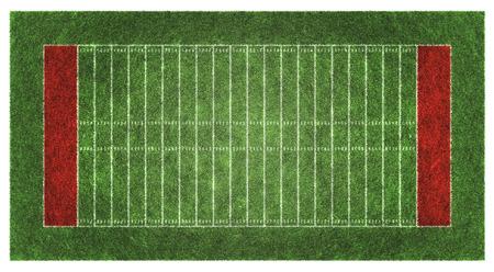 American Football-Feld. Luftaufnahme. 3D-Darstellung. Standard-Bild - 54727836