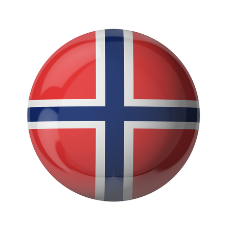 3D flag of Norway isolated on white