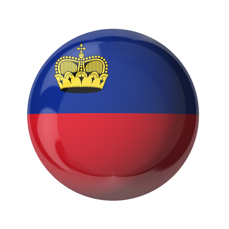 3D Fahne von Liechtenstein isoliert auf weiß Standard-Bild - 54727841