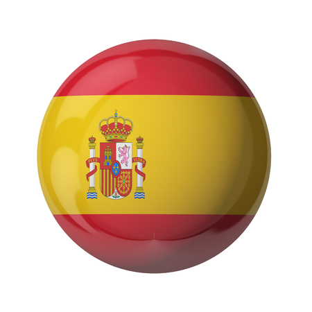 3D flag of Spain isolated on white