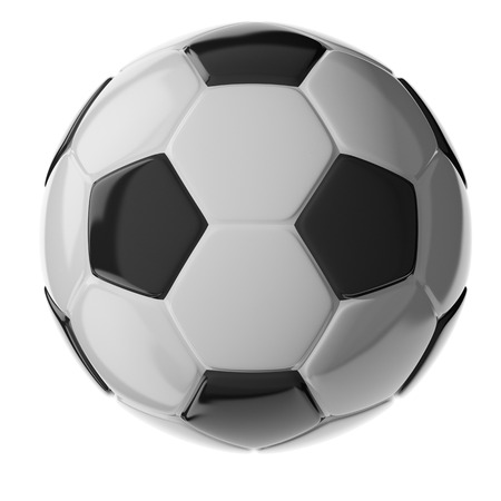 3d soccer ball isolated on white