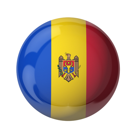 3D flag of Moldova isolated on white
