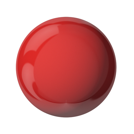 3D red ball isolated on white