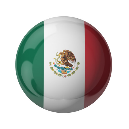 3D flag of Mexico isolated on white
